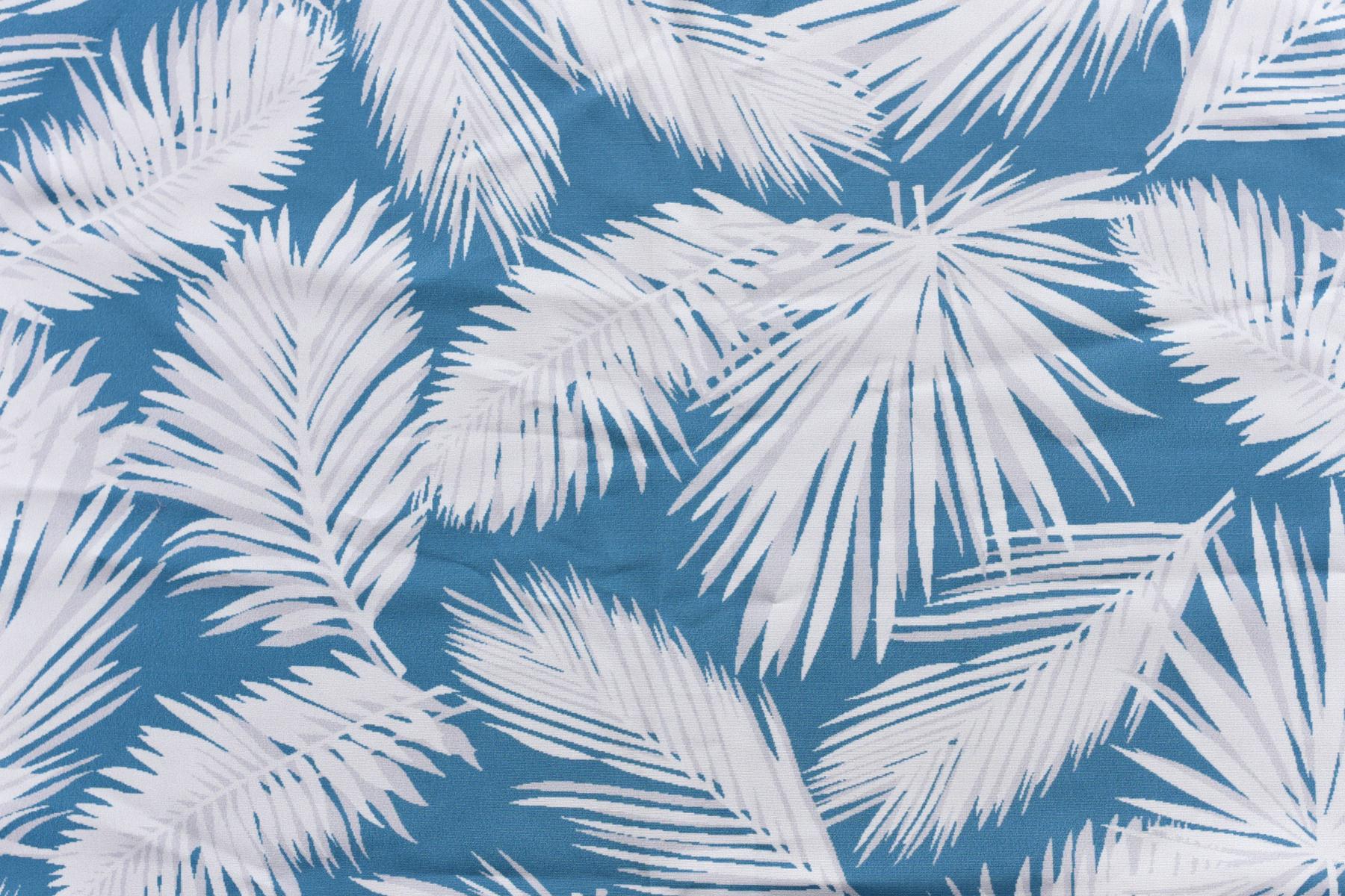 Estampado palmas azul