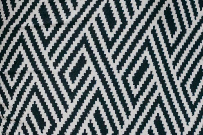 Estampado rombos negro/blanco